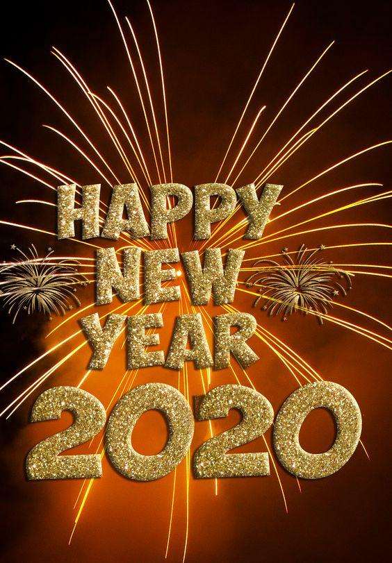 Kartu ucapan Tahun Baru 2020.