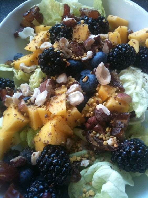 One of our favs from our Salad for Breakfast jag: Bibb lettuce, mango ...