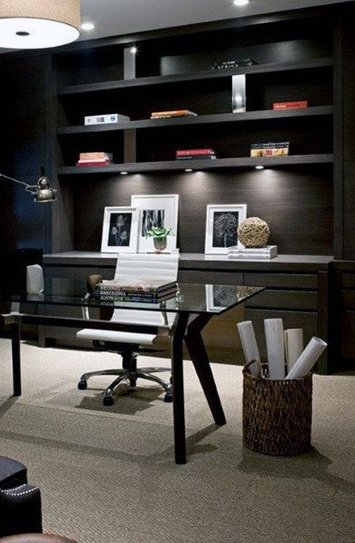 30 Cool Home Office Inspiration Ideas For Men Modern Office Decor Home Office Design Office Interior Design