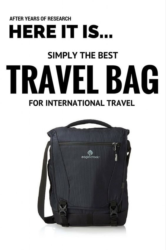 The best day pack for international travel with kids: Eagle Creek Catch-All Courier.
