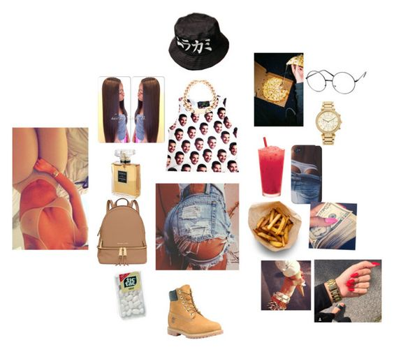 """""""Basketball game 🏀🏀🏀"""" by official-jamaya ❤ liked on Polyvore featuring O-Mighty, Aiaiwan, Chanel, MICHAEL Michael Kors, Timberland and ZeroUV"""