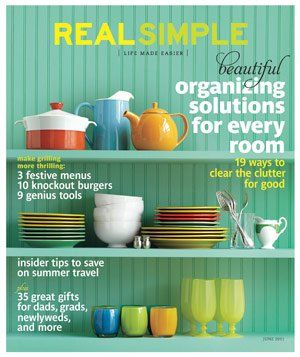 real simple. lovely color combination