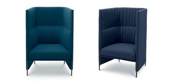 L'Algon lounge Chair è stata sviluppata contemporaneamente all'Algon Chair, mescolando la semplicità scandinava con l'imbottitura trapuntata. A differenza della Algon Chair che ha una forma rigorosa, l'Algon lounge Chair ha i bordi alti, che consentono di avere la necessaria privacy ed è perfetta per una silenziosa conversazione notturna o per un momento solitario di tregua.Come per il divano Papoose, presentato l'anno scorso, il nome Algon si ispira alle tribù nord americane Algoquian.