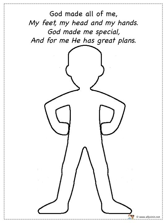 God made me special ideas god made me special lesson for God made me coloring page