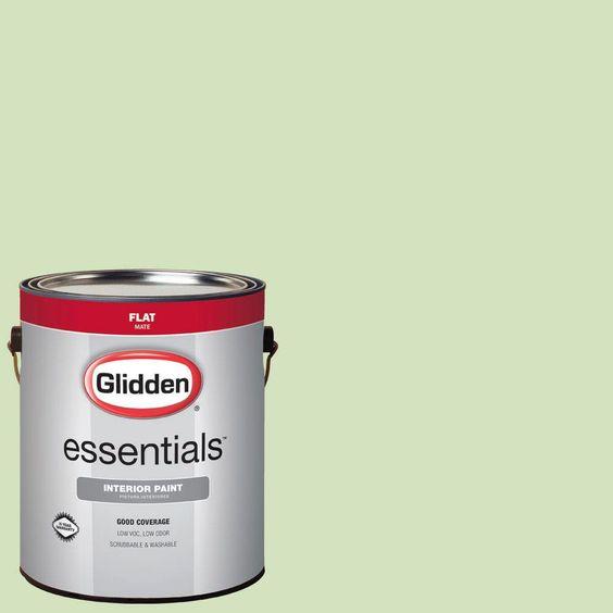 Glidden Essentials 1 gal. #HDGG45 Soft Venetian Green Flat Interior Paint