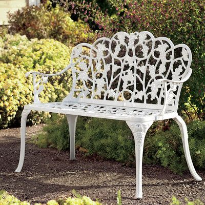 $139.99 Plow & Hearth Grape Aluminum Garden Bench