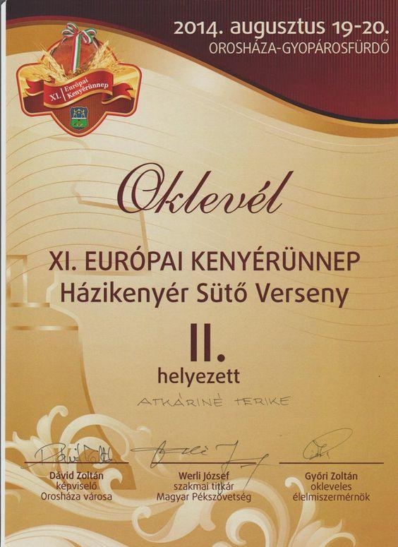 Szánter blogja.: Házikenyér sütőverseny II. helyezett.