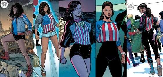 "Dressing like a superhero. ""Miss America Chavez doesn't get dressed: she gets ready."":"