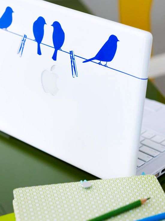 Birds on Laptop
