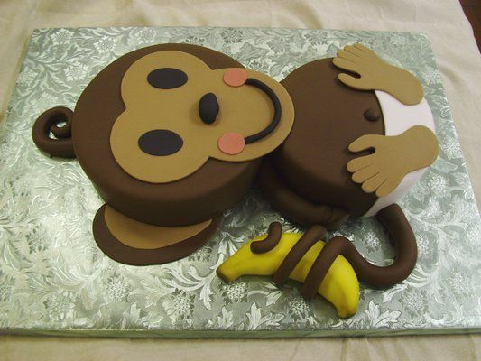 17 Best Images About Monkey Baby Shower On Pinterest Baby Cakes