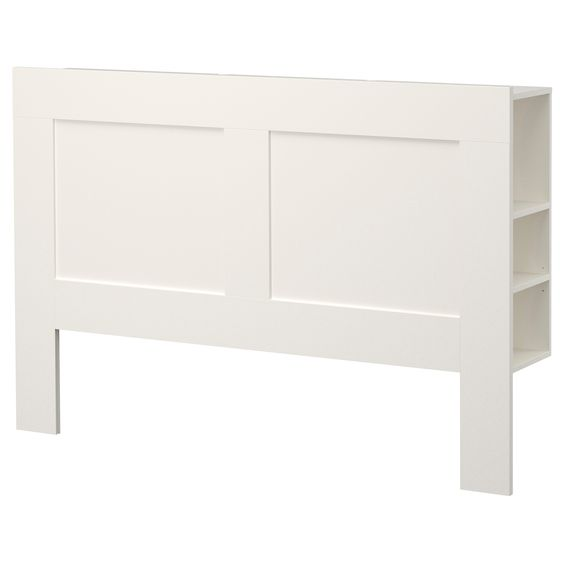 BRIMNES Headboard with storage compartment, white Headboards With Storage, Headboards and Ikea