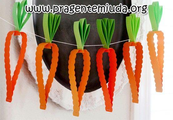 Cenouras de papel