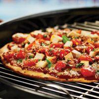Grilled Margerita Chicken Pizza with H-E-B's Fast & Easy Pizza Dough recipe.