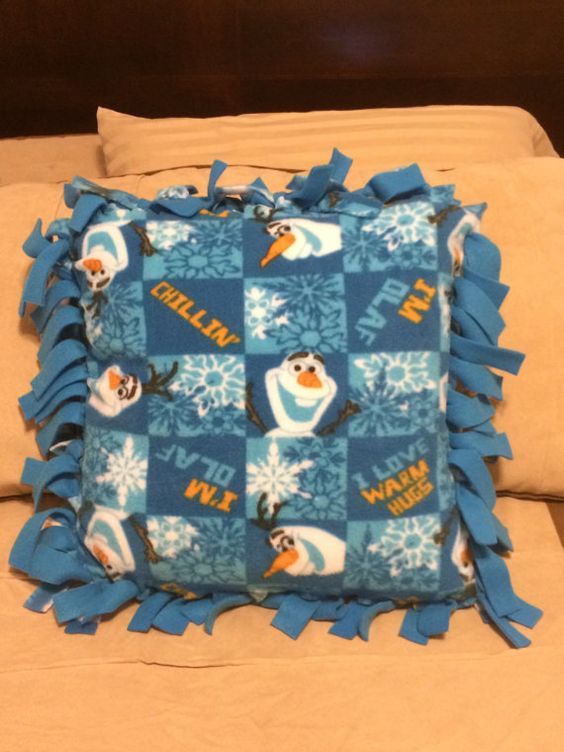 Olaf fleece pillow by jeterbug82 on Etsy