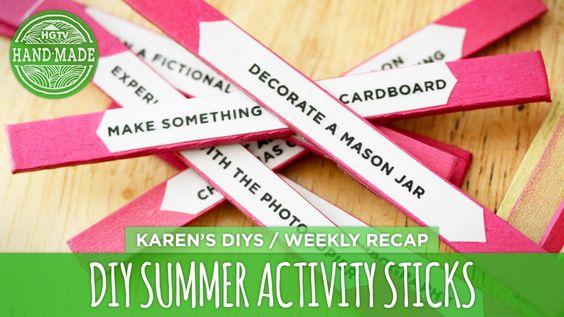 DIY Summer Activity Sticks - HGTV Handmade