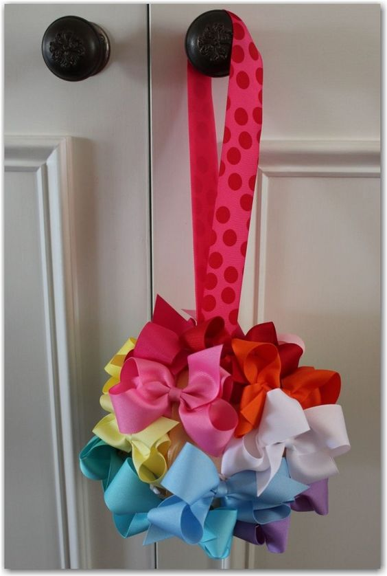 a bow ball - super cute for a baby shower gift!