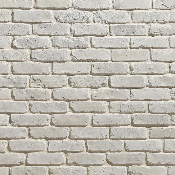 Koni Materials - Blanc. Brick facade totally doable. I like white personally