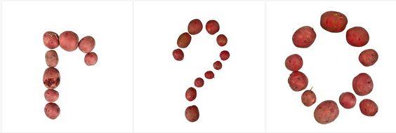 Potato or PotAAto?   Potato food alphabet made by #GreenCorpsCLE   ClevelandBotanicGdn  #urbanfarming http://foodfont.com/potato/?utm_content=bufferaf516&utm_medium=social&utm_source=pinterest.com&utm_campaign=buffer