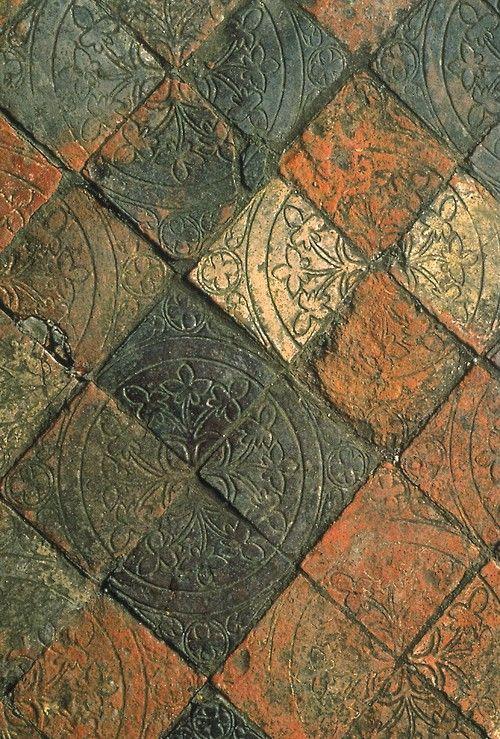 "Medieval floor tilessource: ""Builders and Decorators: Medieval Craftsmen in Wales"""