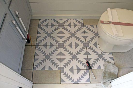 Floor Stickers In The Bathroom Floor Stickers Flooring Bathroom Floor Tiles