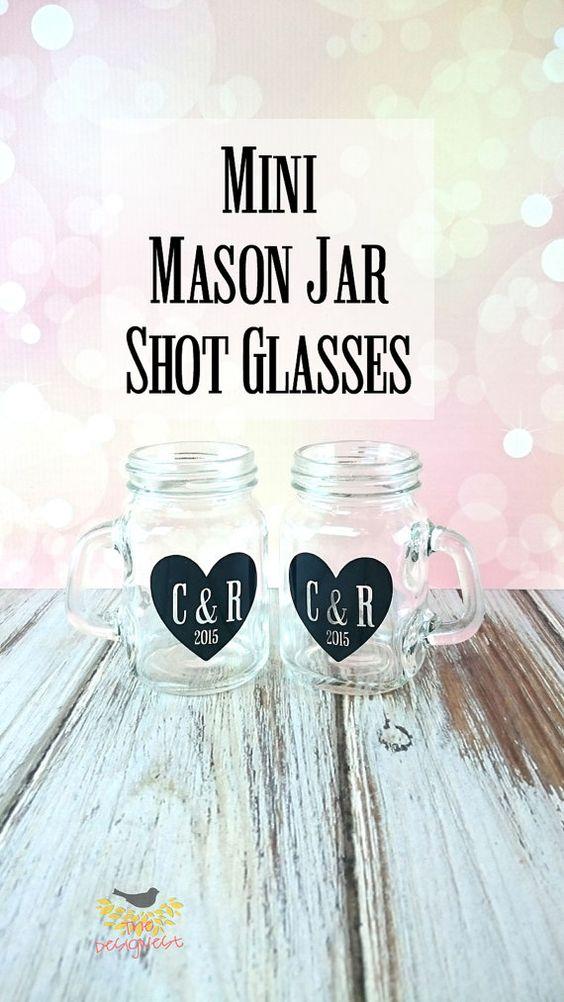 Rustic Bachelorette, Rustic Wedding Favors, Mason Jar Shot Glasses, Wedding Gifts for Bride, Bachelorette Party, Mini Mason Jar Glasses