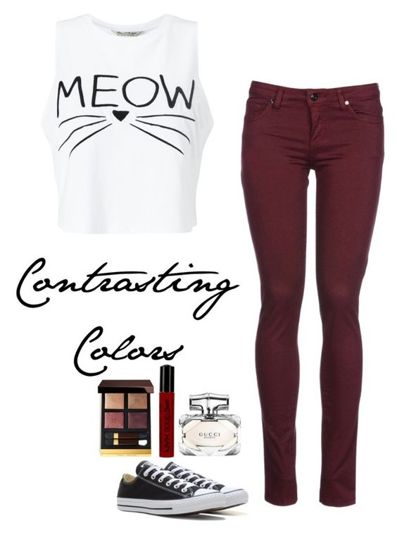 """""""Untitled #227"""" by madisonhuey ❤ liked on Polyvore featuring Miss Selfridge, 8, Converse, Gucci, Tom Ford and NYX"""