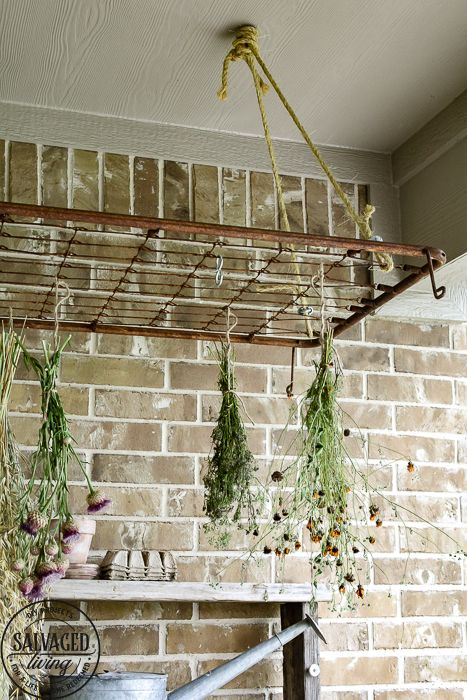 The Perfect Plant Drying Rack For Your Patio If You Want A French Country Feel On Your Porch Then A Vintage Ba Drying Rack Diy Hanging Drying Rack Drying Rack