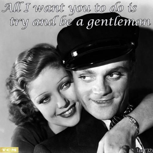 Loretta Young and James Cagney in the movie, Taxi (1932)