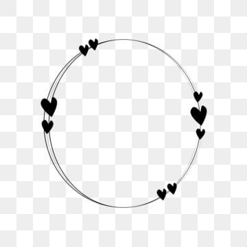 Circle Love Frame Clipart Png Vector Element Heart Frame Circle Frame Png And Vector With Transparent Background For Free Download Frame Border Design Frame Logo Circle Frames Clipart