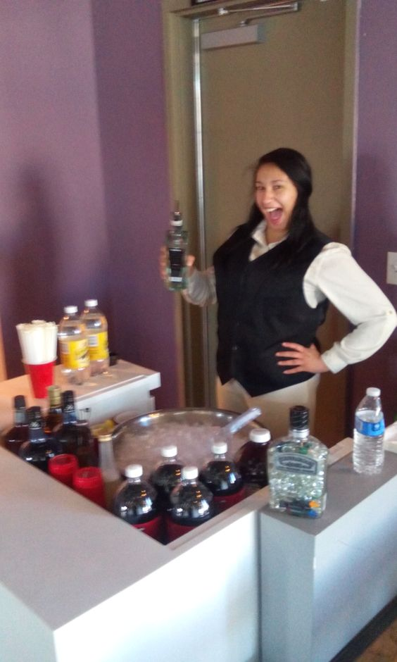 rent a bartenders opening night of mobile bartending