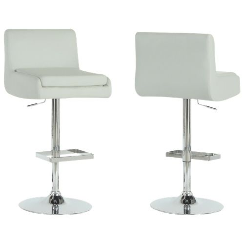 Monarch Bar Stools with Hydraulic Lift 2 Pack White