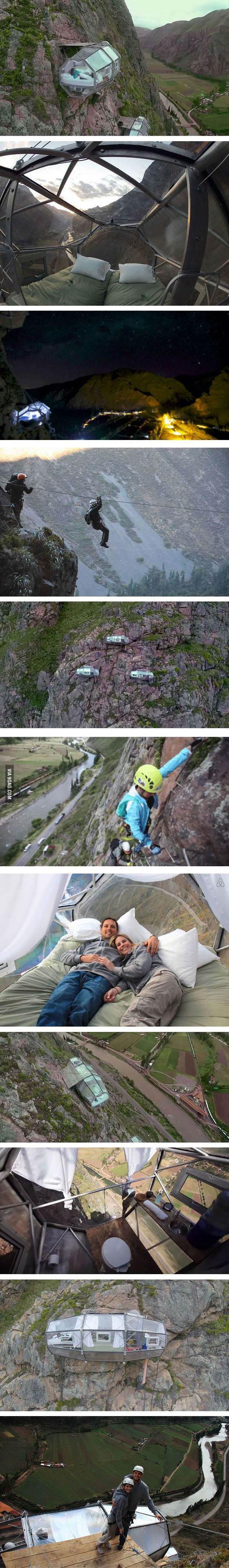 Skylodge! - living 400 feet (122m) above the ground on a cliff-face (Peru's Sacred Valley)