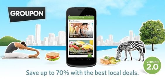 Groupon - Daily Deals, Coupons:  get the App