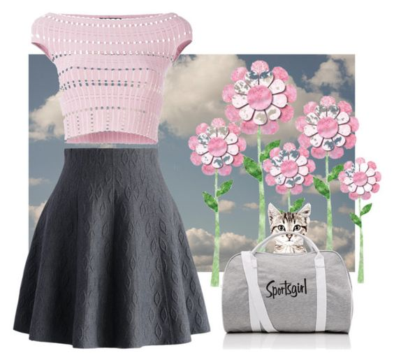 """""""Here kitty"""" by blubrgndy on Polyvore featuring Chicwish and Alexander McQueen"""