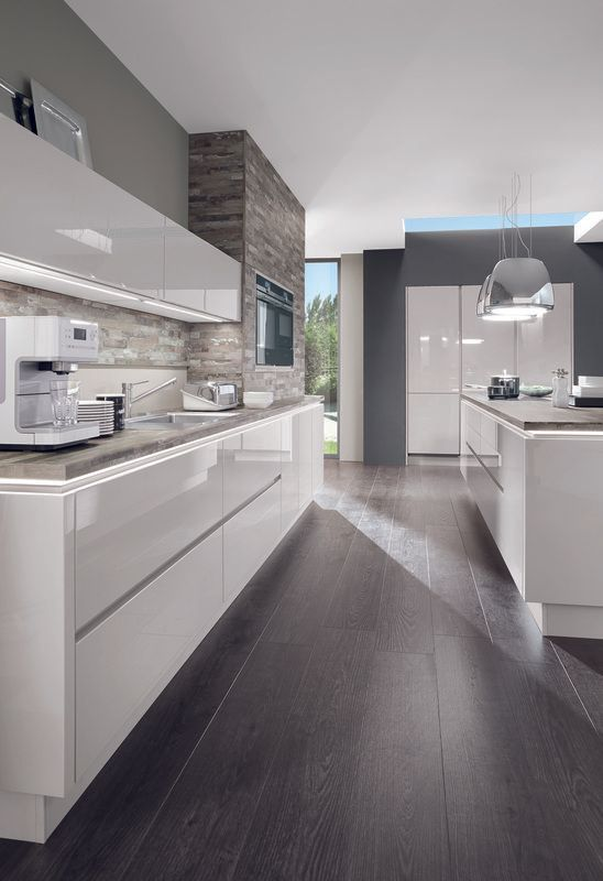 Shop This Look Beautiful White High Gloss Kitchen Look Http Na Rehau Com Redirect Brilliant Kitchen Design Modern Kitchen Design Modern Kitchen