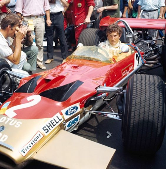Jochen Rindt driving Lotus