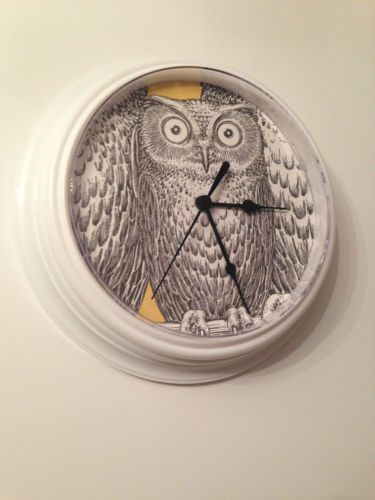 New-White-Wall-Clock-Reworked-with-Fornasetti-II-Nottambule-Owl-Wallpaper