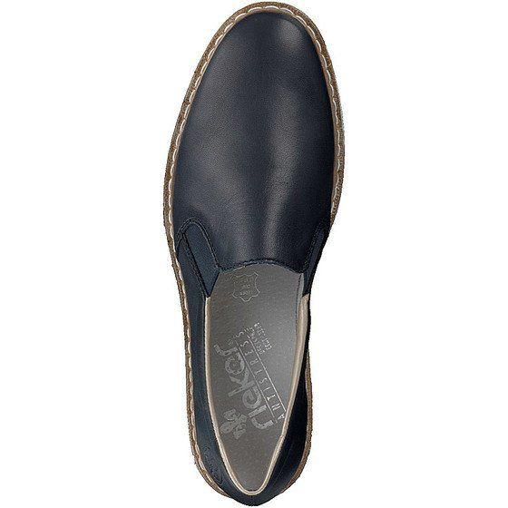 Rieker Damen Slipper Blau N0360 14 Halbschuhe Damenschuhe Schuhe