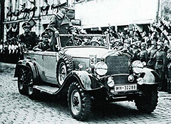 Hitler in his mercedes benz g4 world war 2 pinterest for Mercedes benz germany careers