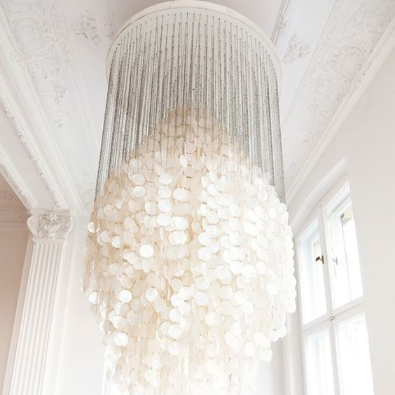 Mother of Pearl Chandelier - Verner Panton