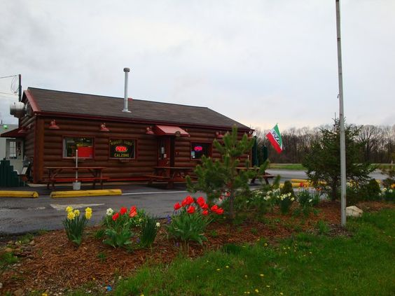 The Pizza Cabin, Lewis Center and they now have a new location right off 23 & Dillmont!  Everything they have is great - pizza, meatballs, spaghetti, lasagna, and cheesecake made in house!