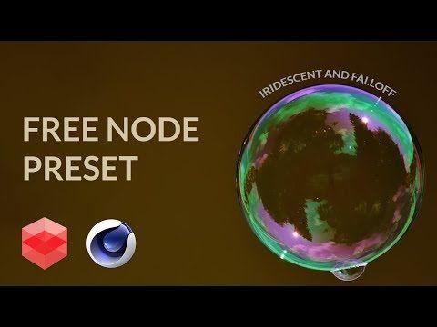 Redshift-c4d free Node preset download[CINEMA 4D TUTORIAL