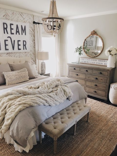4 Tips To Remember Before You Decorate Your Home Romantic Bedroom Decor Farmhouse Bedroom Decor Home Decor
