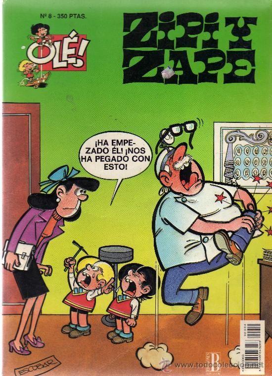 """Zipi y Zape es una historieta humorística creada y desarrollada por el autor español José Escobar a partir de 1948, la más popular de las suyas, y una de las más populares del medio en España, sólo por detrás de """"Mortadelo y Filemón"""", al menos en su época."""