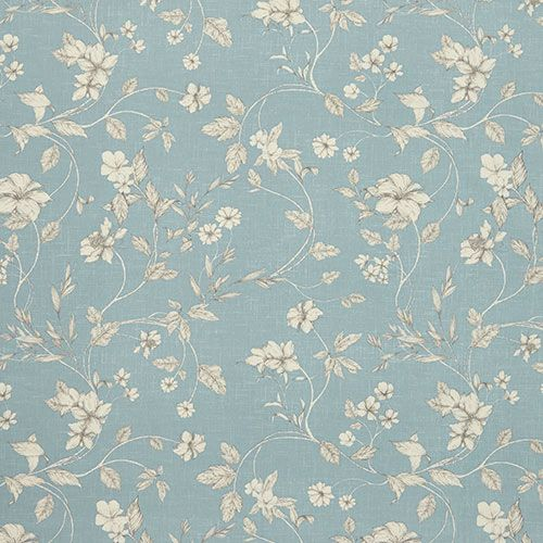 Iliv Etched Vine Wedgewood Fabric Blue Floral Curtains Interior