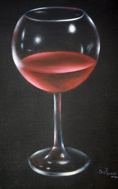 Downloadable Painting Pattern Acrylic Red Wine Glass