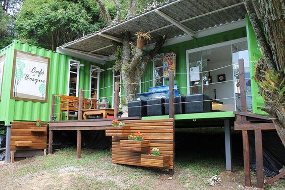 Cafeteria feita de container: