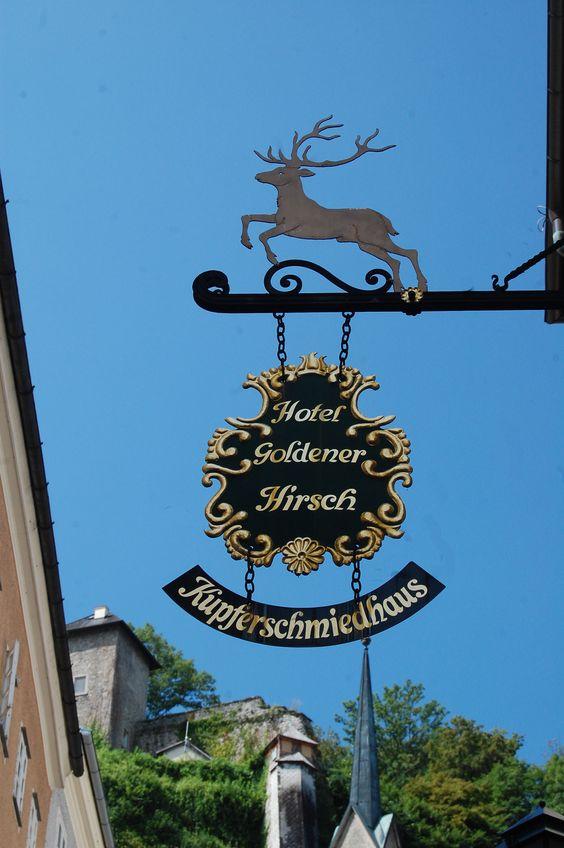 Goldener Hirsch, Salzburg  ~ very upscale and charming hotel (cozy bar and wonderful restaurant)