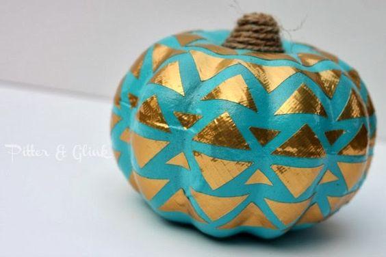 PitterAndGlink: {Duck Tape Decorated Dollar Store Pumpkin} #pumpkin #dollarstorecraft #ducktapecraft