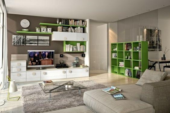armoire de rangement en blanc et vert